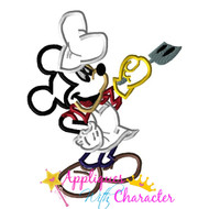 Mickie Mouse Grill Summer Applique Design