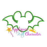 Mickey Bat Halloween Applique Design
