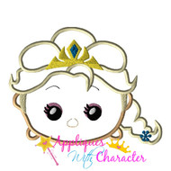 Snow Queen Frozen Tsum Tsum Applique Design