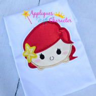 Ariel Tsum Tsum Applique Design