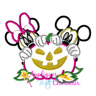 Mickie Minny Halloween Pumpkin Applique Design