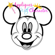 Mickie Smile Face Applique Design