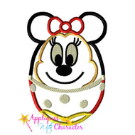 Minny Mouse Easter Egg Applique Design