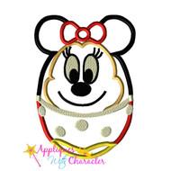 Minny Mouse Easter Egg Applique Design