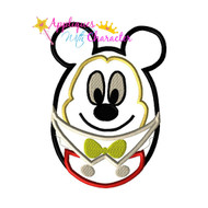Mickie Mouse Easter Egg Applique Design