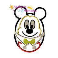 Mickie Mouse Easter Egg Applique Design