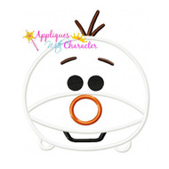 Olav Frozen Tsum Tsum Applique Design