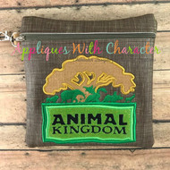 Animal Kingdom Tree Logo Applique Design