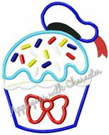 Donild Duck Cupcake Applique Design