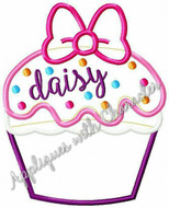 Daizy Cupcake Applique Design