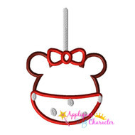 Minny Candy Apple Applique Design