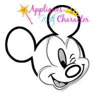 Mickey Wink Face Applique Design