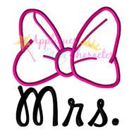 Minny Mouse Mrs.   Applique Design
