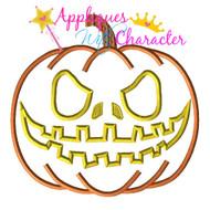 Halloween Pumpkin  Applique Design