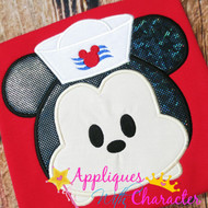 Mickie Sailor Tsum Applique Design
