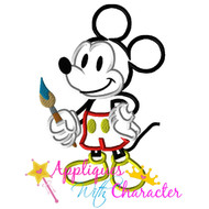 Mickie Animators Palate Artist  Applique Design