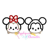 Minny Mickie Tsum Tsum SET   Applique Design