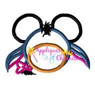 Eeyore Mickie Head Applique Design