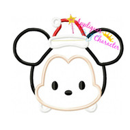 Mickie Tsum Tsum Santa  Applique Design