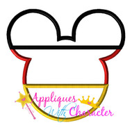 Germany German Flag Mickey Mouse Head Epcot Applique Design