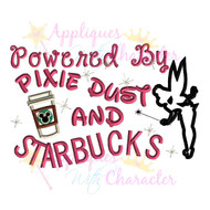 Pixie Dust and Starbucks  Applique Design