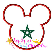 Morocco Morrocan Flag Mickey Mouse Head Epcot Applique Design