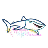 Whale Shark Dory Movie Applique Design