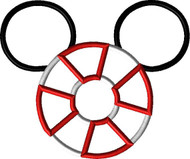 Life Preserver Cruise Mickey Ears   Applique Design