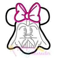 Minny Darth Vader Star Battle   Applique Design