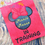 Minny Mouse In Training Applique Design