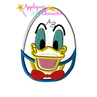 Donild Duck Easter Egg Applique Design