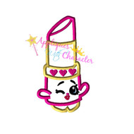 Shopikins Fancy Lipstick  Applique Design