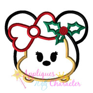 Christmas Minny Tsum Tsum Applique Design