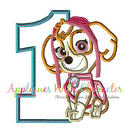 Paw Sky Patrol Pup One Applique