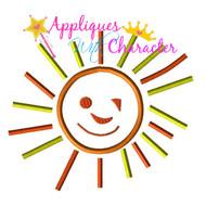 Smiling Sun Applique Design
