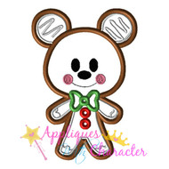 Gingerbread Mickie Cookie Applique Design
