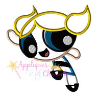 Power Puff Bubbles Girl Applique Design