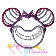 Cheshire Cat Mickey Mouse Head Applique Design