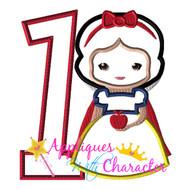 Snow White Cutie ONE Applique Design