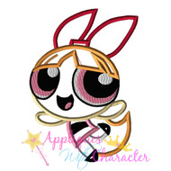 Power Puff Blossom Girl Applique Design