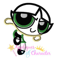 Power Puff Buttercup Girl Applique Design