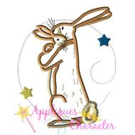 I Love You Bunny Applique Design