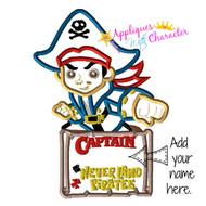 Jake Neverland Pirates Applique Design