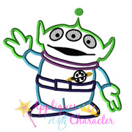 Alien Toy Applique Design