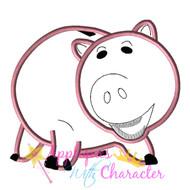 Pig Bank Toy Applique Design