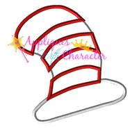 Seuss Cat Hat Applique Design