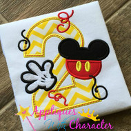 Mickie Mouse Two Applique Design