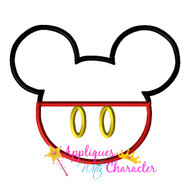 Mickie Mouse Clubhouse Head Applique Design