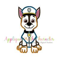 Paw Chasie Pup  Applique Design