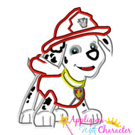 Paw Marshill Pup Applique Design